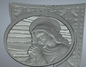jesus christ headstone with texture 3D print model