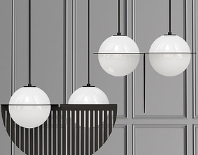 3D model Laurent opalescent glass spheres with bold lines