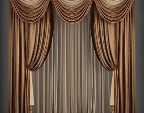 Curtain 3D model 164 VR / AR ready
