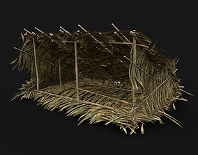 3D model TRIBAL JUNGLE PRIMAL SHELTER HUT HOUSE LEAF 2