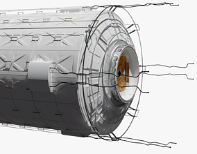 3D model Space Ship or Space Station Generic Module with 3