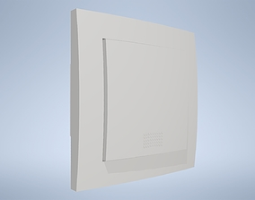 Electrical switch EKONOMIK WHITE 3D asset