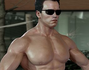 celebrity rigged 3d model Arnold Schwarzenegger