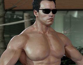 animated 3d model Arnold Schwarzenegger