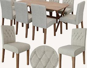 dining set furniture-set 3D model