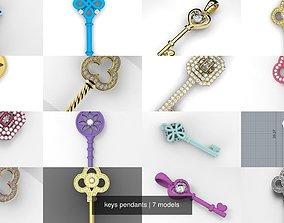 keys pendants 3D