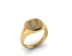 3D print model gem Jewelry Signature Ring
