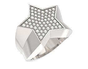 jewelry N204 Star ring 3D print model
