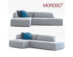 3D Modern Couch Moroso Massas