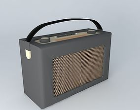3D model Roberts radio retro black leather
