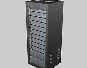 3D model renderserver Data Server Rack