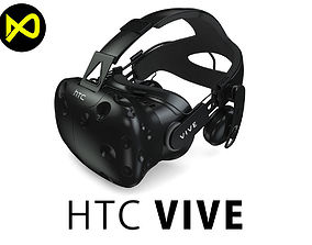 3D model HTC Vive Deluxe Audio Strap Headsets