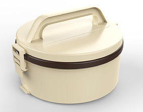 Lunch Box Container 3 Compartments 3D