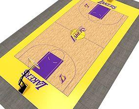 3D asset Basketball Court