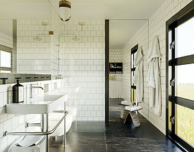 3D model Bathroom scene for Cinema 4D and Corona Renderer
