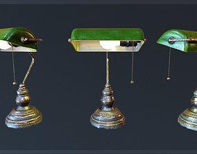 Bankers lamp Gameready VR 3D asset