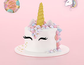 unicorn cake 3D