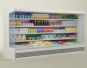3D model Store display refrigerator freezer 02
