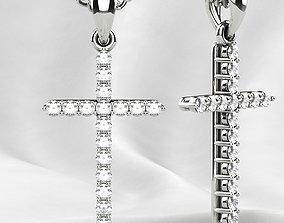 3D printable model Tiffanys Style Cross Gold Pendant