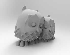 Two owls 3D print model