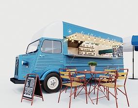 restaurant Set street cafe 3D model
