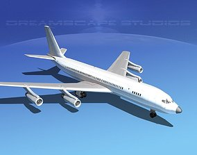 3D Boeing 707 Unmarked 1