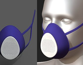 3D model Gas mask respirator military combat protection