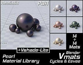 VMATS Pearl Material Library for Blender Cycles 3D model 1