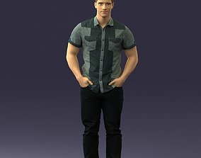 3D print model Young man in shiny trousers 0384