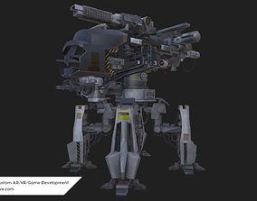 game-ready Realistic Low poly 3D model AR VR Alien Mech 1
