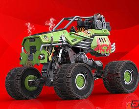 3D asset Sci-Fi Survival Monster Truck