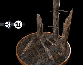 Nature Assets - Burnt Trees low-poly