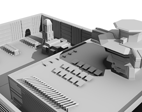 Sci- Fi Military Base 3D asset