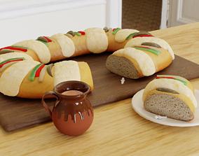 3D Rosca de Reyes