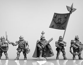 3D print model Feudal Guard Command Squad 28mm