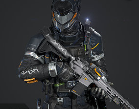SCIFI - URBAN SOLDIER 3D asset