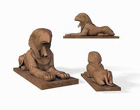 Horus sphinx Statue 3D asset