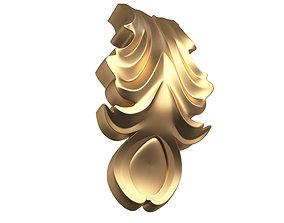 3D asset Leave Ornament Plaster Molding Decoration CNC 2