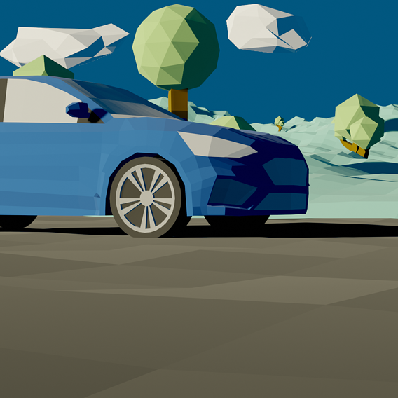 Low Poly Ford Focus