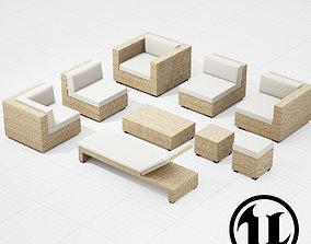 Patio Furniture Set UE4 3D model