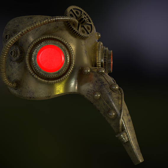 Steampunk Plague Masquerade Mask