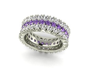 Pave Ring 3D print model