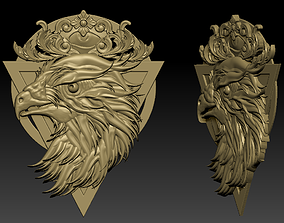 carving 3D printable model eagle head