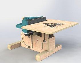 3D model Grinding machine Makita 9404