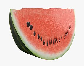 Slice of watermelon 3D model