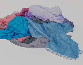 Pile of Clothes 3D Scanned Bright Colors realtime