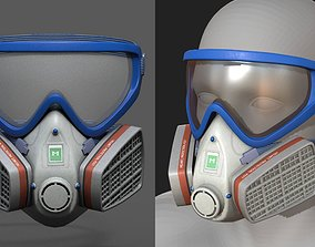 Gas mask helmet 3d safety isolated fantasy VR / AR ready