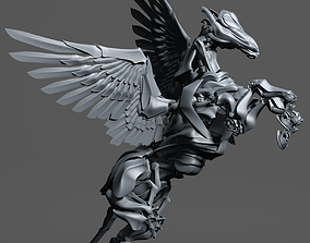Iron Pegasus with 500 separated elements 3D