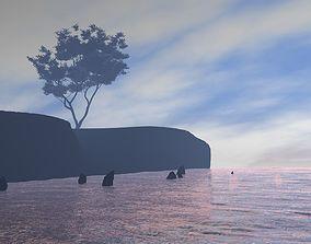 Ocean 3D model animated