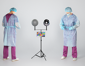 3D asset Experienced surgeon doctor performing an 2